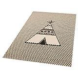 Zala Living Tipi Noya Kinder-/spielteppich, Polypropylen, Creme, 170 x 120 x 0.4 cm