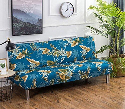 Cornasee copridivano clic clac 3 posti,fodera per cuscino elastica de di stampa floreale per divano letto pieghevole senza braccioli (k)