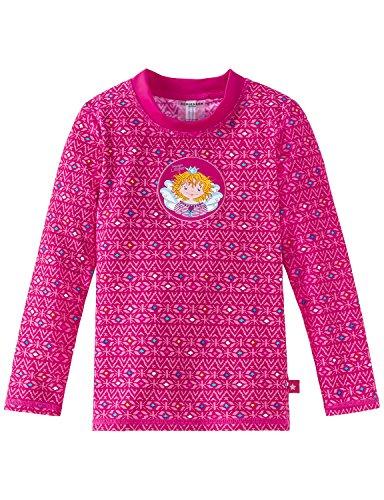 Schiesser Mädchen Strandkleid Aqua Prinzessin Lillifee Bade-Shirt Rot (Fuchsia 508), 128 (Top Tank Aqua Mädchen)
