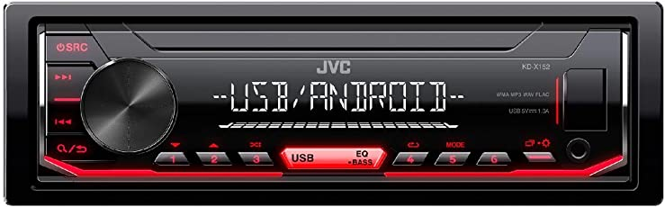 JVC KD-X152 Digital Media Receiver with Front USB/AUX Input (Black)