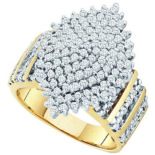 100-karat-ctw-10-k-gelb-gold-rundschliff-weiss-diamant-damen-cluster-rechte-hand-ring-1-ct