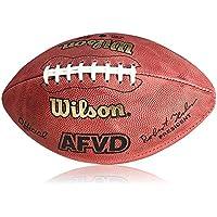 Wilson Football AFVD Game Ball, SC Senior - Balón de fútbol americano (cuero, bola de partido, juego), color rojo, talla Senior
