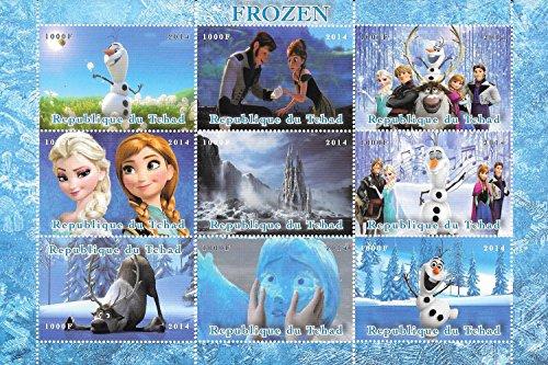Francobolli da collezione - congelati il ??film di Disney MNH foglietto / Chad / 2014