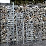 Eckige Gabionen-Säule - Höhe wählbar: 50 / 100 / 150 / 200 cm 4-Eck Säulengabione Steinkorb Gabione (100 cm)