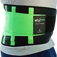 Cinturón Lumbar Médico Ortopédico MEDiBrace para Prevenir Lesiones al hacer Deporte o Aliviar el Dolor y