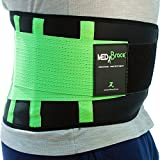 Cinturón Lumbar Médico Ortopédico MEDiBrace para Prevenir Lesiones al hacer Deporte o Aliviar el Dolor de la Ciática, la Hernia de Disco, Estenosis Espinal | Soporte Mejora la Postura de la Espalda