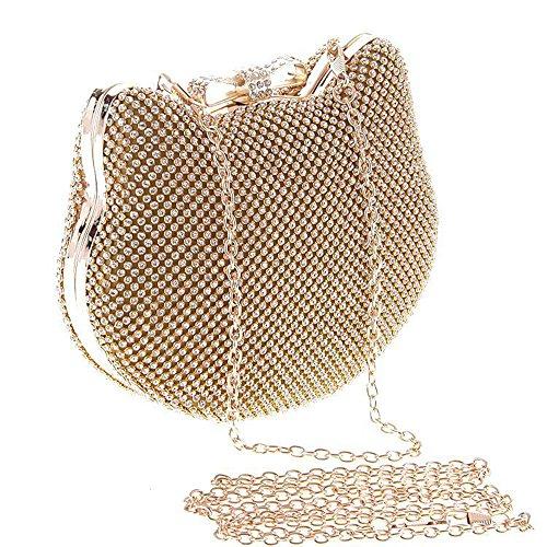Myleas Pochette Sac de Soirée Mariage Envelopes Epaule chaine Fête - Sac à main Or