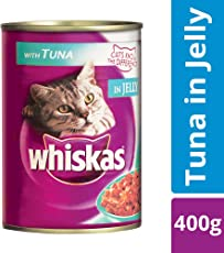 Whiskas Wet Cat Food, Tuna for Adult cats, 400 g