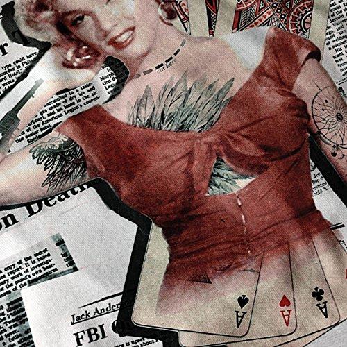 Monroe As Diva Berühmtheit Kasino Leben Damen S-2XL Muskelshirt | Wellcoda Grau