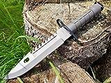 U.S. Military Knives U.S. Army M-9 Typ-3 - Militär M9 Multipurpose Bajonett mit extrem Sägerücken - taktisches Kampfmesser - Jagdmesser -