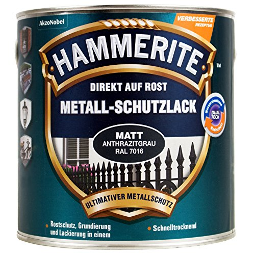 HAMMERITE Metall-Schutzlack Matt SB Anthrazitgrau 750ML - 5272546