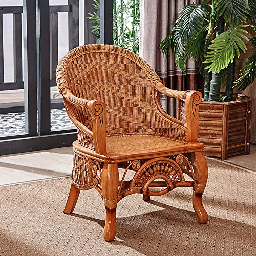 seeksungm Chair, Coffee Table/Table, Natural Plant rotin Leisure Table And Chair, Three-piece Set Of Green rotin Furniture (1 table and 2 chairs) Chair