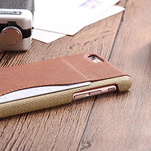 iPhone Case Cover Mischen Sie und Match-Farben-Abdeckungs-Fall mit Kartenhalter für iPhone 6 6S ( Color : Charming Red , Size : IPhone 6 6S ) Brown