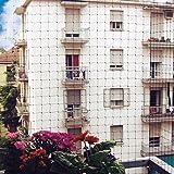 Taubenabwehrnetz 5 x 5 Meter, Komplettset für Fassaden, Balkone 25m² mit Zubehör