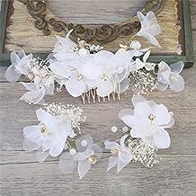 MultiKing tocado de novia Coreano tocado Nupcial flores secas Secador de  Accesorios Conjunto vestido de boda b920e30dba9b