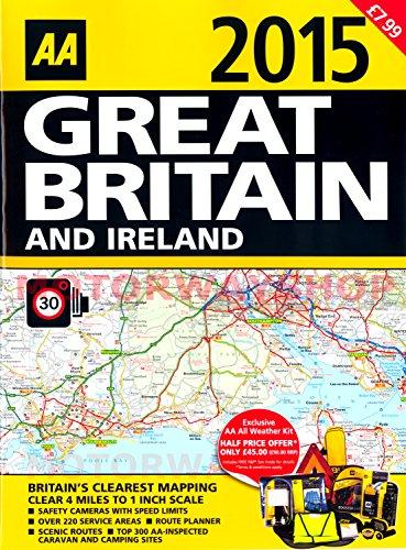 AA 2015 Road Atlas Great Britain & Ireland UK Latest Edition