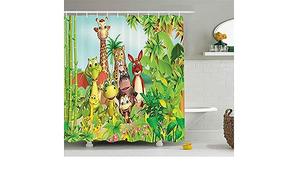 CULER Mur Animaux Sauvages Jungle Dessin anim/é 3D Autocollants Mignon Plan Mur Autocollant pour Chambre denfants Salon Home Decor