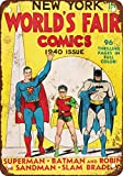1940 New York World's Fair Comics Look vintage Reproduction plaque en métal 30,5 x 45,7 cm