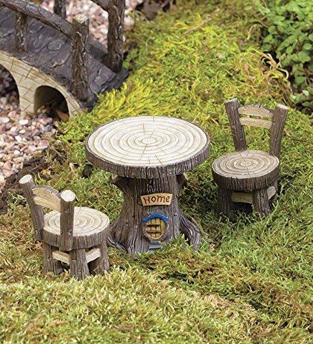 Miniatura Jardín de hadas de tocón de árbol conjunto de muebles