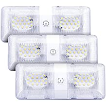 YWTESCH Auto interior del coche de la lámpara, Faro de trabajo LED off-road, YWTESCH Doble Luz LED 2 X 250LM Blanco cálido, 5050 SMD LEDs, 300K, Para camión, todoterreno, tractor, barco