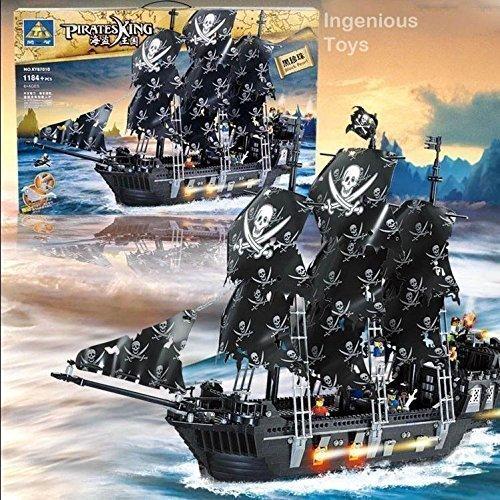 Preisvergleich Produktbild groß Piraten Schiff Kazi Black Pearl 6 Zahlen Karibisches Meer 1184pcs NEU #KY87010