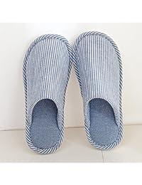8a9042c19c54d YMFIE Los Amantes de la Cubierta de Invierno Home Piso Zapatillas de algodón  Zapatos Damas Hombres