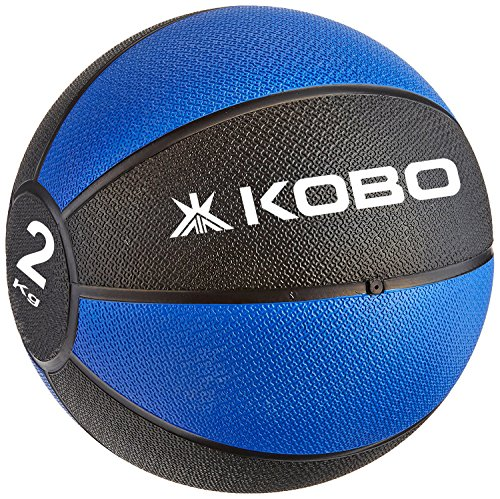 Kobo 2 Kg Training - Medicine Ball / Slam Ball with Easy-Grip Textured Surface and Ultra-Durable Rubber Shell (Imported)