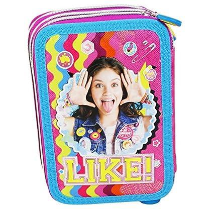 Disney Soy Luna Smile Estuche Escolar Làpices de colores Plumier triple