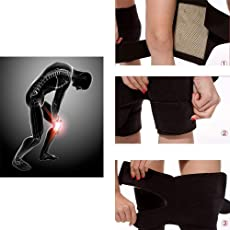 Flyngo Set of 2 Knee Hot Belt for Leg Pain Self Heating Magnetic Knee Strap Knee Cap/Support for Pain Relief Knee Protection Magnetic Therapy Heating Belt