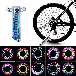 Vovotrade® - 16 LED 30 Tipos de Patrón Coche Motocicleta Ciclismo Bicicleta Bici Neumático Rueda Borde Válvula Brillante Accesorios Rayo Ligero Advertencia La Seguridad Luces Reflectores