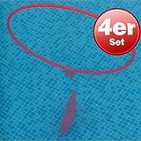 4x Aqua-Ring Ø75cm mit Gewichtssack Unterwasser Tauch Parcour Spiel rot