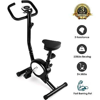 AGM Fitness F-Bike, Cyclette Fitness, Home Trainer, Bici d'Allenamento per la Casa, Cyclette da Training Aerobico, Fitness, Palestra, Sport e Tempo Libero, Sostiene Fino a 100 kg (Nera)
