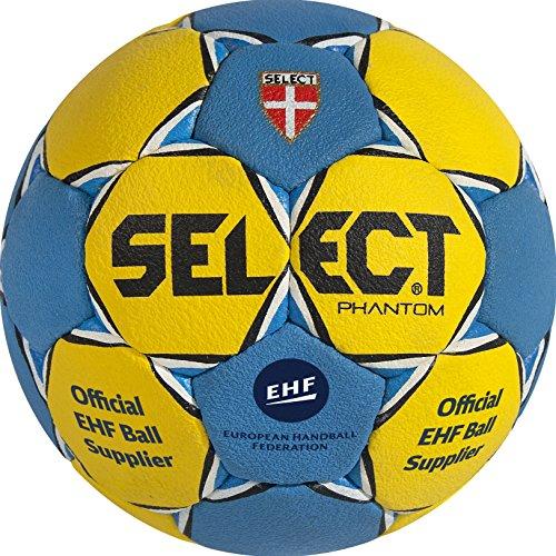 Select Phantom - Balón de balonmano, colores azul y amarillo, tamano 0