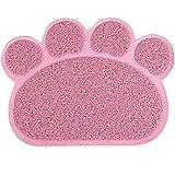 Perros Alfombrilla Matte Pad, King Coo gato inodoro Colchón Mascotas Juego de mesa Espacio Mesa Esterilla Para Perros Gatos, 30x 40cm Kleine elástica PVC Pfote Desig