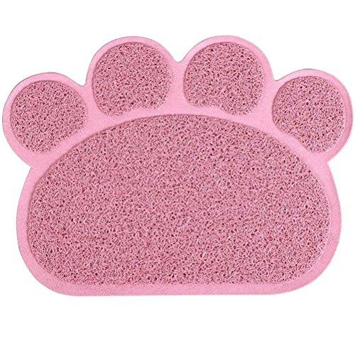 Alfombrilla para arenero, para cucha de KINGCOO, impermeable, para animales con forma de pata, para el arenero, cuenco, de tela, medidas 30 cm x 40cm, con PVC