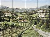 Fliesenwandbild - Toskana Träume - von Barbara Felisky - Küche Aufkantung/Bad Dusche