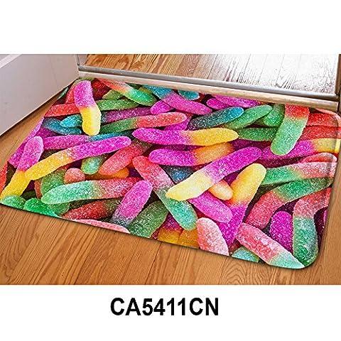 Coloranimal personnalisé Candy Couleur Paillasson drôle de cuisine de bain Tapis de sol Moquette Moderne candy patern-1