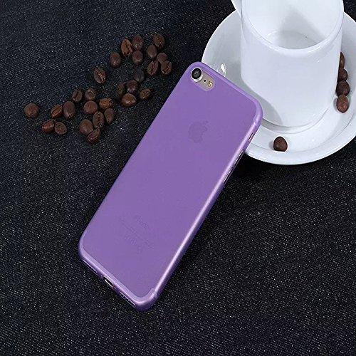 iPhone Transparente Matte TPU Kunststoff Telefon Hülle/Case Gel TPU Abdeckung für iPhone 5 / 5s / SE mit Display Schutz / EJC Avenue / Gelb Lila