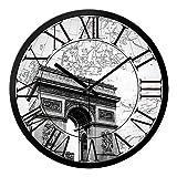 DIDADI Wall Clock Horloge murale horloges Continental bureau de dessin moderne rétro élégant créative le grand tableau mural Horloge Horloge à quartz, 12