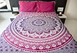 Folkulture Magenta Marvel Double Bed 100...