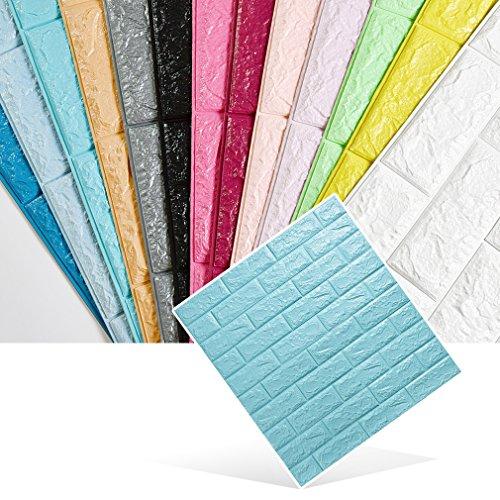 KINLO Wandpaneele 3D Ziegelstein Tapete Selbstklebend Brick Muster Tapete Fototapete DIY Wandaufkleber für Schlafzimmer Wohnzimmer moderne TV dekor (70cm*77cm*0.9cm)
