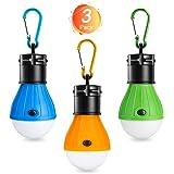 Winzwon Lampade Led Campeggio, 3 Pack Lampadina Led Portatile Lampada LED da Campeggio Tenda LED Light per il Campeggio…