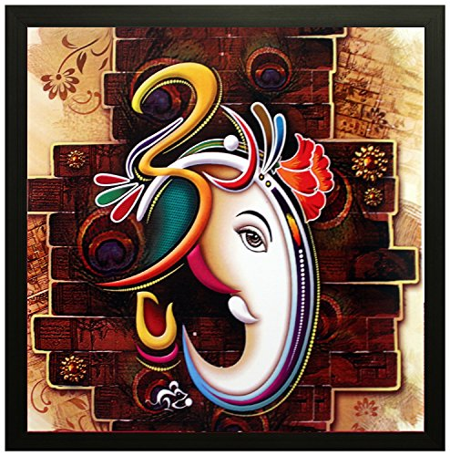 PPD Lord Ganesha Wall Painting - Frame size (12 inch x 12 inch, (Wood, 30 cm x 3 cm x 30 cm, Special Effect Textured) - Wall Decor    Wall Decals    Wall Hangings    Home Decor    Gift Items    Beautiful and serene surroundings that bring style to your surroundings.  available at amazon for Rs.235