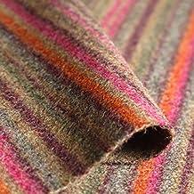 Iona 'Sunset Stripe': naranja y rosa y beige lana tapicería de sofá cojín tela retardante de llama Material de telas Loome, Iona 'Sunset Stripe' : Orange Pink And Beige, 10 x 14 cm sample