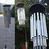 CALISTOUK 27pcs Tube Wind Chimes Musik Kollektion Home Garden Outdoor Decor