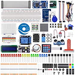 kuman Kit Électronique,Kit de Démarrage RFID pour Raspberry Pi 4 B 3 B +, Écran LCD Soudé I2C 1602, Code C et Python, Apprentissage de l'Électronique et de la Programmation K84 (K84)