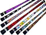 ART DECO Pro Devil Stick Set (7 Arty Designs!) Handstäbe nicht enthalten!! Ideal für Anfänger Jonglieren Devilsticks & Pro ist! (PEACE)