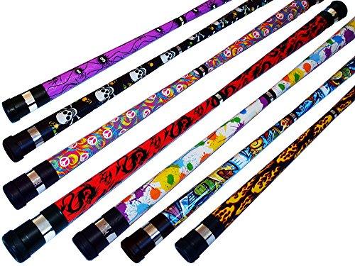 ART DECO Pro Devil Stick Set (7 Arty Designs!) Handstäbe nicht enthalten!! Ideal für Anfänger...