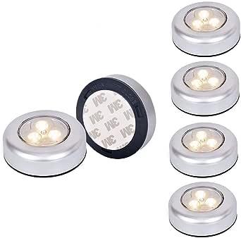 Tougo Lot de 6 LED Spots Lampe Autocollant Lumière Armoire