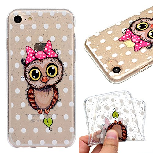 Custodia Cover Per Apple iPhone 7 plus / 8 plus , WenJie mango Trasparente Silicone Sottile Back Case Molle di TPU Trasparente per Apple iPhone 7 plus / 8 plus MM50